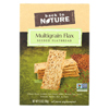 Back To Nature Multigrain Flax Seeded Flatbread Crackers - Case of 6 - 5.5 oz. HGR 01517069