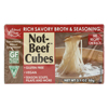 Edward & Sons Natural Bouillon Cubes - Not Beef - 3.1 oz.. - Case of 12 HGR0154914