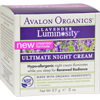 Avalon Organics Ultimate Night Cream Lavender Luminosity - 2 oz HGR 0156174