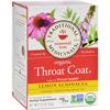 Organic Lemon Echinacea Throat Coat Herbal Tea - 16 Tea Bags - Case of 6