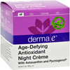 Derma E Age-Defying Night Creme with Astaxanthin and Pycnogenol - 2 oz HGR 160895