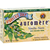 soaps and hand sanitizers: Auromere - Bar Soap - Ayurvedic - Vanilla Neem - 2.75 oz
