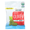 Mediterranean Organic Olives - Organic - Green - Pitted - with Herbs - Snack Pack - 2.5 oz. - case of 12 HGR01685148