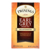 Twinings Tea Earl Grey Tea - Decaffeinated - Case of 6 - 20 Bags HGR 0169995