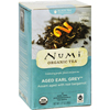 Ring Panel Link Filters Economy: Numi - Aged Earl Grey Bergamot Black Tea - 18 Tea Bags - Case of 6