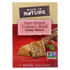 Clean and Green: Back To Nature - Crackers - Sundried Tomato Basil Crispy Wheat - Case of 6 - 8 oz.