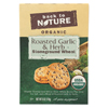 Crackers - Roasted Garlic and Herb Stoneground Wheat - Case of 6 - 6 oz.
