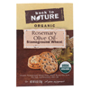 Clean and Green: Back To Nature - Crackers - Rosemary and Olive Oil Stoneground Wheat - Case of 6 - 6 oz.