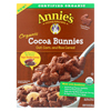 Annie's Homegrown Organic Cocoa Bunnies Oat with Corn and Rice Cereal - Case of 10 - 10 oz. HGR 01819036