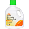 cleaning chemicals, brushes, hand wipers, sponges, squeegees: Sun and Earth - 2X Laundry Detergent - Light Citrus Scent- Case of 4 - 100 oz