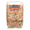 Delallo Organic Whole Wheat Pasta Shells - Case of 16 - 1 lb. HGR 0206078