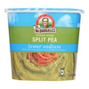 Dr. Mcdougall's Vegan Split Pea Lower Sodium Soup Cup - Case of 6 - 1.9 oz.. HGR 0212530
