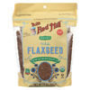 Organic Flaxseeds - Brown - Case of 6 - 13 oz.