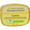soaps and hand sanitizers: Clearly Natural - Glycerine Bar Soap Lemon - 4 oz