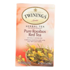 Twinings Tea Herbal Tea - Pure Rooibos Red - Case of 6 - 20 Bags HGR 0222745