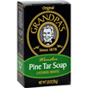 soaps and hand sanitizers: Grandpa's - Pine Tar Bar Soap - 3.25 oz