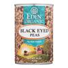 Ring Panel Link Filters Economy: Eden Foods - Organic Black Eyed Peas - Case of 12 - 15 oz.