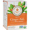 Traditional Medicinals Organic Ginger Aid Herbal Tea - 16 Tea Bags - Case of 6 HGR 344366