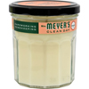 Clean and Green: Mrs. Meyer's - Soy Candle - Geranium - Case of 6 - 7.2 oz Candles