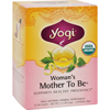 Yogi Teas Organic Womans Mother To Be Herbal Tea Caffeine Free - 16 Tea Bags - Case of 6 HGR 354217