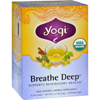 Yogi Teas Organic Breathe Deep Herbal Tea Caffeine Free - 16 Tea Bags - Case of 6 HGR 354993