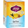 Yogi Teas Detox Herbal Tea Caffeine Free - 16 Tea Bags - Case of 6 HGR 355057
