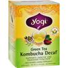 Yogi Teas Herbal Green Tea Caffeine Free Kombucha - 16 Tea Bags - Case of 6 HGR 355313