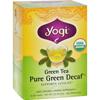 Yogi Teas Organic Green Tea Caffeine Free - 16 Tea Bags - Case of 6 HGR 355495