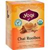 Yogi Teas Organic Herbal Tea Caffeine Free Chai Rooibos - 16 Tea Bags - Case of 6 HGR 355792