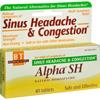 Boericke and Tafel Alpha SH Sinus Headache - 40 Tablets HGR 0366203