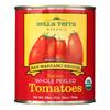 Bella Terra Organic Italian Whole Peeled Tomatoes - San Marzano - Case of 12 - 28 oz.. HGR 0393793