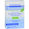 hgr: Puretouch Skin Care - Puretouch Tush Wipes Flushable - 24 Wipes