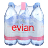 Evian Spring Water Spring Water - Plastic - Case of 2 - 6/1 LTR HGR 0394866