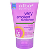 Skin Protectants Childrens: Alba Botanica - Natural Very Emollient Sunscreen for Kids - SPF 45 - 4 oz