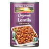 Westbrae Foods Westbrae Foods Organic Lentils Beans - Case of 12 - 15 oz. HGR 0404764