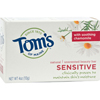 soaps and hand sanitizers: Tom's of Maine - Natural Beauty Bar Sensitive Unscented - 4 oz - Case of 6