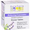 Nutrition: Aura Cacia - Aromatherapy Shower Tablets Relaxing Lavender - 3 Tablets