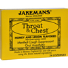 cough drops: Jakemans - Throat and Chest Lozenges - Honey and Lemon - Case of 24 - 24 Pack