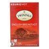 Twinings Tea Black Tea - English Breakfast - Case of 6 - 12 Count HGR 0426247
