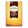 Twinings Tea Black Tea - Earl Grey - Case of 6 - 12 Count HGR 0426346