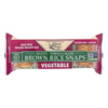 Organic Vegetable Brown Rice Snaps - Case of 12 - 3.5 oz..