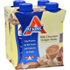 Atkins Advantage RTD Shake Milk Chocolate Delight - 11 fl oz Each / Pack of 4 HGR 0458125