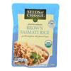 Seeds Of Change Organic Rishikesh Brown Basmati Rice - Case of 12 - 8.5 oz. HGR 0476697
