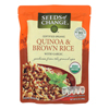 Organic Quinoa and Brown Rice with Garlic - Case of 12 - 8.5 oz.