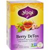 Yogi Teas Detox Herbal Tea Caffeine Free Berry - 16 Tea Bags - Case of 6 HGR 478560