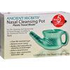 OTC Meds: Ancient Secrets - Nasal Cleansing Neti Pot - Plastic - 1 Pot