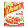 La Victoria Traditional Enchilada Sauce Mild - Case of 12 - 28 FZ HGR 0506048