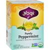 Yogi Teas Organic Herbal Tea Caffeine Free Purely Peppermint - 16 Tea Bags - Case of 6 HGR 518423