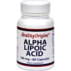 Vitamins OTC Meds Antioxidants: Healthy Origins - Alpha Lipoic Acid - 100 mg - 60 Caps