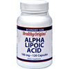 Vitamins OTC Meds Antioxidants: Healthy Origins - Alpha Lipoic Acid - 100 mg - 120 Caps